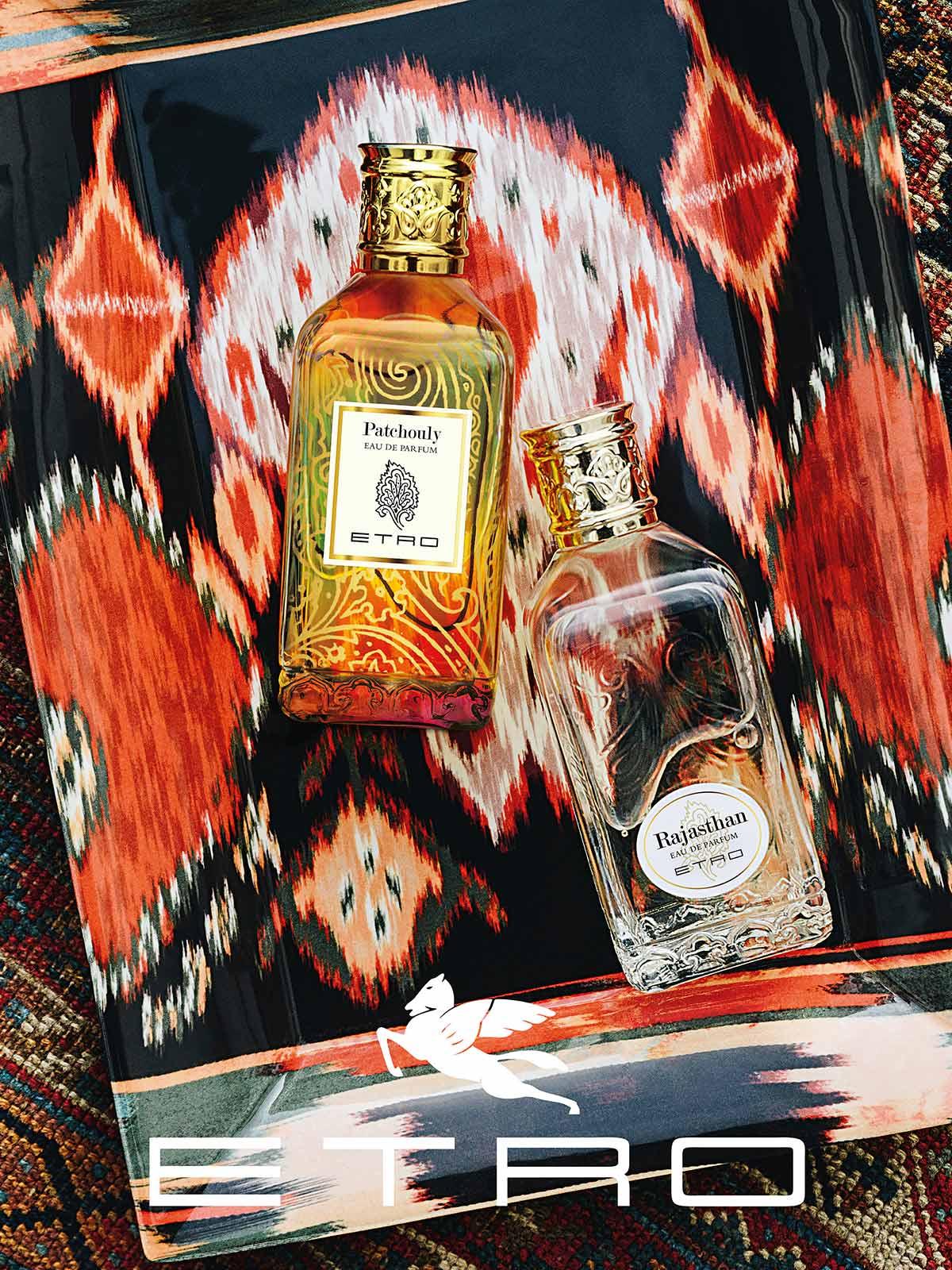 Ein Bild des Etro Patchouly Rajasthan Parfum Visuals