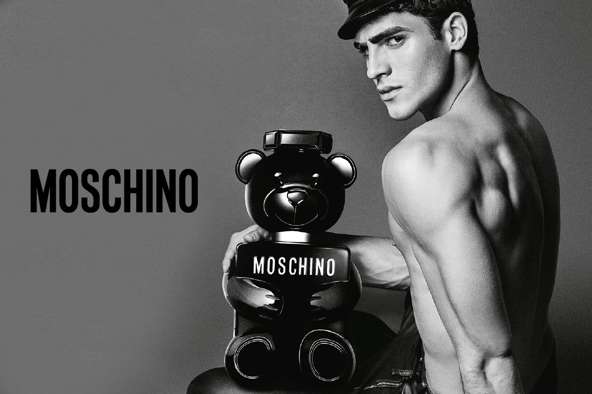 Ein Visual des Moschino Parfume Visual