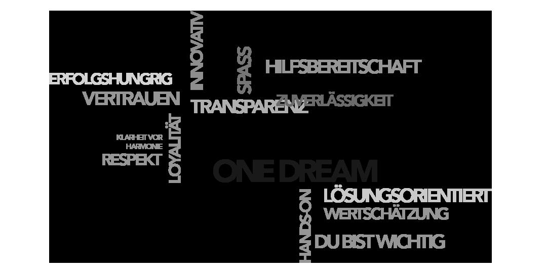 Eine Grafik Wordcloud mit Nobilis Werten